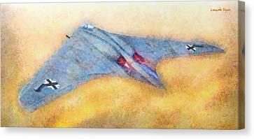 German Flying Wing - Da Canvas Print