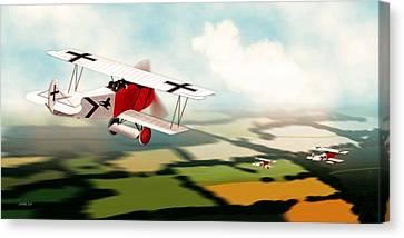 German Fokker D7 Ww1 Fighter Canvas Print by John Wills