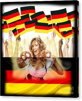 German Girl Canvas Print by John Rizzuto