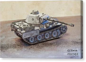 German Panther Tank Canvas Print by Randy Steele