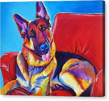 German Shepherd - Zeke Canvas Print