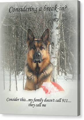 German Shepherd 911 Canvas Print