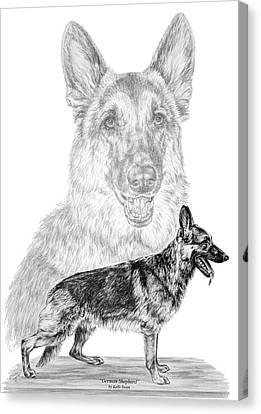 German Shepherd Dogs Print Canvas Print by Kelli Swan