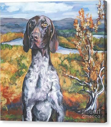 German Shorthaired Pointer Autumn Canvas Print by Lee Ann Shepard