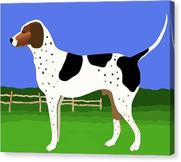 German Shorthaired Pointer In A Field Canvas Print by Marian Cates