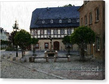 German Town Square Canvas Print