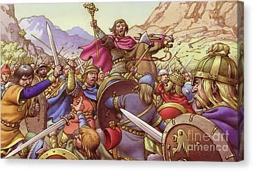 Germanus, The Battling Bishop Canvas Print by Pat Nicolle