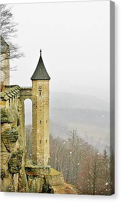 Germany - Elbtal From Festung Koenigstein Canvas Print by Christine Till