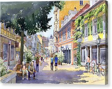 Germany Baden-baden Lange Strasse Canvas Print by Yuriy  Shevchuk