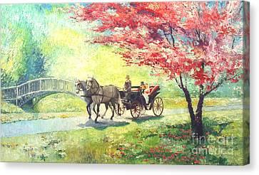 Germany Baden-baden Lichtentaler Allee Spring 2 Canvas Print by Yuriy  Shevchuk