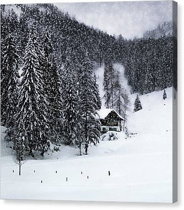 Germany Bavarian Winter's Tale Ix Canvas Print by Melanie Viola