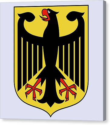 Canvas Print featuring the drawing Germany Coat Of Arms by Movie Poster Prints