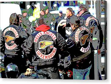 Germany Trial Hell Angels Motorcycle Club Canvas Print