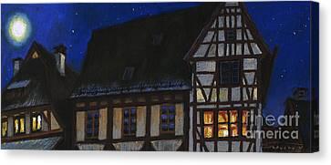 Germany Ulm Fischer Viertel Moonroofs Canvas Print by Yuriy  Shevchuk