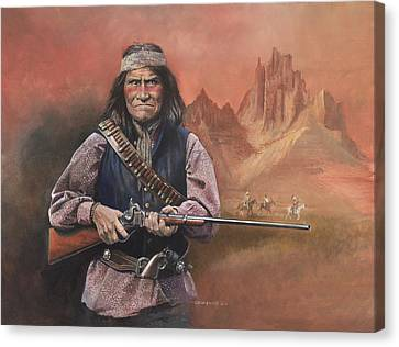 Geronimo Canvas Print by Chris Collingwood