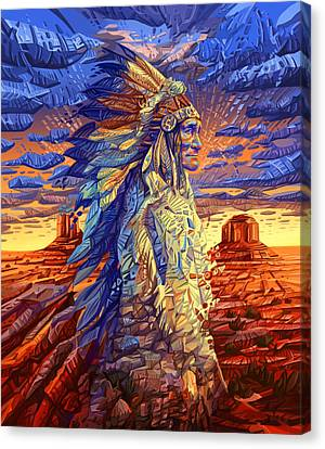 Geronimo Decorative Portrait Canvas Print