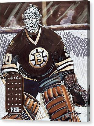 Gerry Cheevers Canvas Print by Dave Olsen