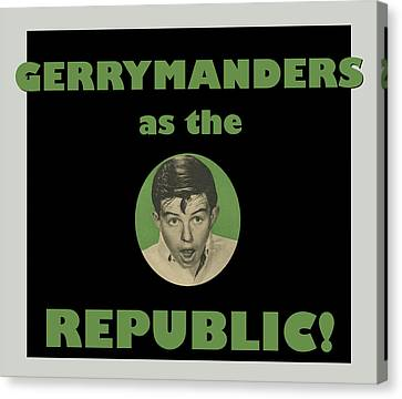 Voters Canvas Print - Gerry Manders by Thomas Krahn