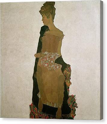 Gerti Schiele Canvas Print by Egon Schiele