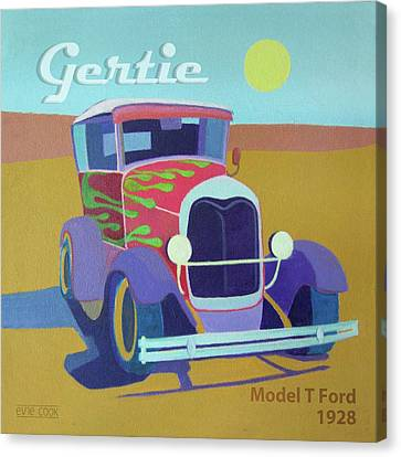 Gertie Model T Canvas Print by Evie Cook