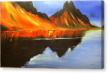 Gerua Iceland Canvas Print by Rajesh Desai