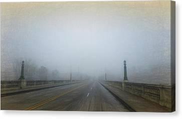 Canvas Print featuring the photograph Gervais Bridge Christmas Day by Steven Richardson
