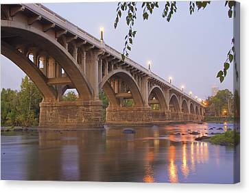 Late Canvas Print - Gervais Bridge by Steven Richardson