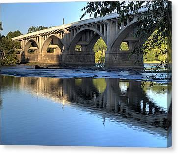 Gervais Street Bridge-1 Canvas Print by Charles Hite