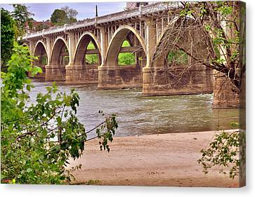 Gervais Street Bridge 2 Canvas Print by Lisa Wooten