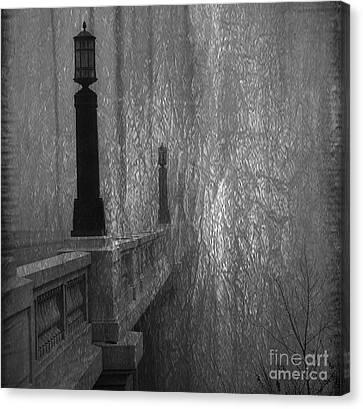 Gervais Street Bridge Bnw Artistic Canvas Print