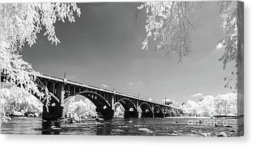 Gervais Street Bridge In Ir1 Canvas Print by Charles Hite