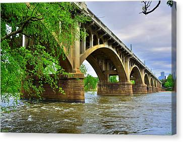 Gervais Street Bridge Canvas Print by Lisa Wooten
