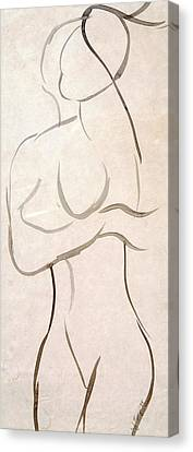 Gestural Nude Sketch Canvas Print by Angela Murray