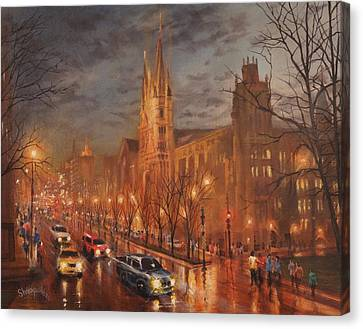 Gesu Church And Marquette Hall Canvas Print