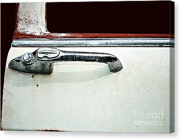 Canvas Print featuring the photograph Get A Handle by Stephen Mitchell