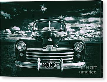 Antique Automobiles Canvas Print - Get Your Kicks by Mark Miller