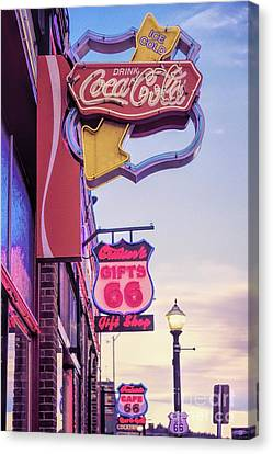 Get Your Kicks On Route 66 Canvas Print by Jon Burch Photography