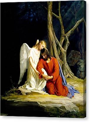 Gethsemane Canvas Print by Carl Bloch