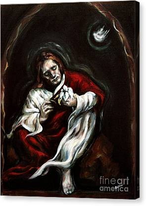 Gethsemane Canvas Print by Carrie Joy Byrnes