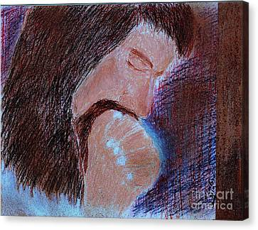 Canvas Print featuring the painting Gethsemane by Richard W Linford