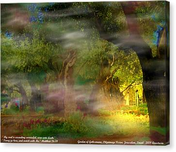 Canvas Print featuring the photograph Gethsemane Vision-2008 by Anastasia Savage Ealy
