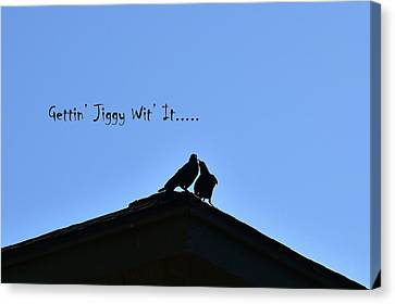 Gettin Jiggy Wit It Canvas Print by Linda Brody