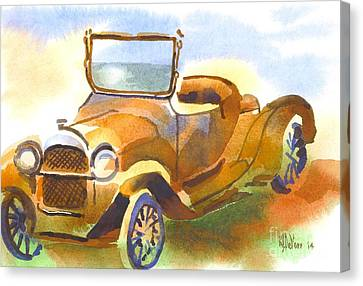 Rusted Cars Canvas Print - Getting A Little Rusty by Kip DeVore
