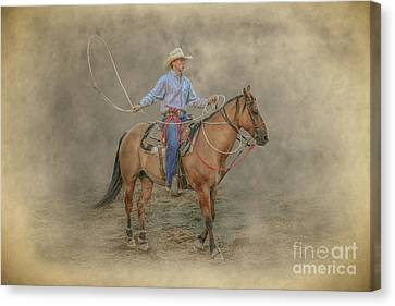 Getting Ready Rodeo Calf Roping Canvas Print