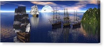 Getting Underway Canvas Print by Claude McCoy
