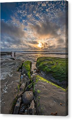 Getting Your Feet Wet Canvas Print by Peter Tellone