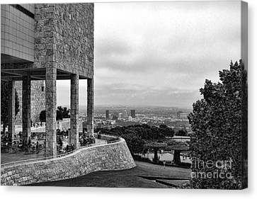 Getty Blk N Wht Canvas Print by Chuck Kuhn
