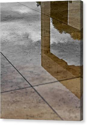 Canvas Print featuring the photograph Getty Reflections by Ron Dubin