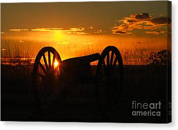 Gettysburg Cannon Sunset Canvas Print