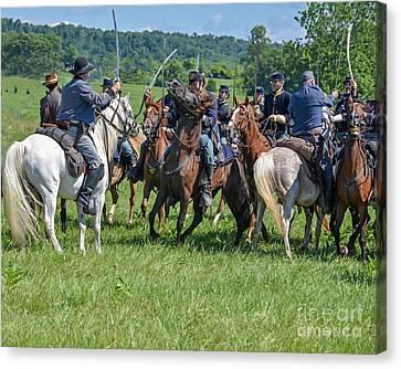 Gettysburg Cavalry Battle 7970c  Canvas Print